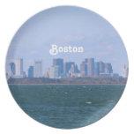 Boston Skyline Plates