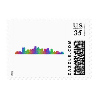 Boston skyline postage