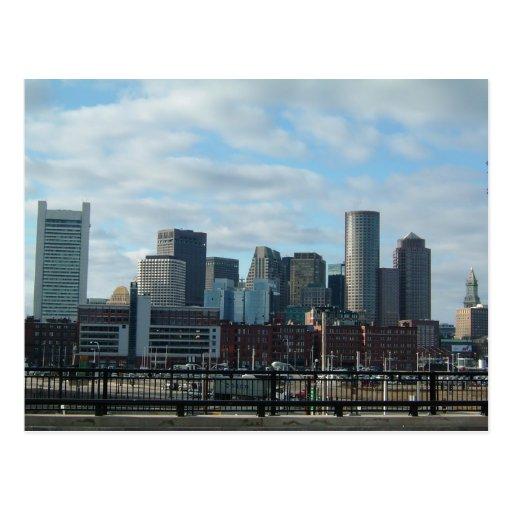 Boston Skyline Postcard
