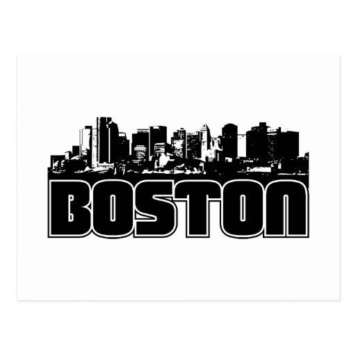 Boston Skyline Post Card