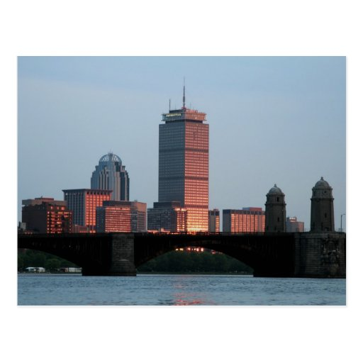 Boston Skyline Post Cards