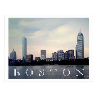 Boston Skyline Postcard