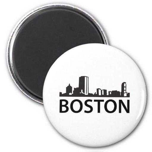 Boston Skyline Refrigerator Magnet