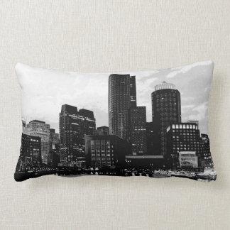 Boston Skyline - Reversible - Neon/Blk White Lumbar Pillow