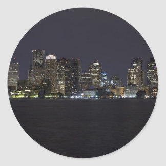 Boston Skyline Round Sticker
