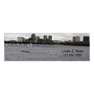 Boston Skyline - Rower & Boating Mini Business Card