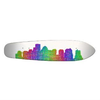 Boston skyline custom skateboard