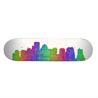 Boston skyline skateboard decks