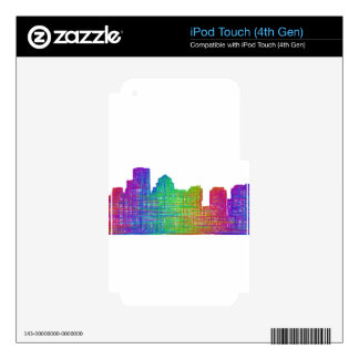 Boston skyline iPod touch 4G decal