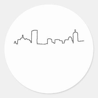 Boston - Skyline Round Sticker