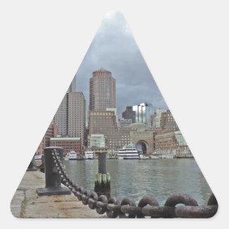 Boston Skyline Triangle Sticker