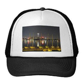 Boston skyline trucker hat