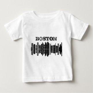 Boston Skyline Typography Baby T-Shirt
