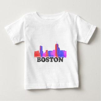 Boston Skyline watercolor Baby T-Shirt