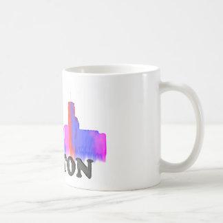 Boston Skyline watercolor Coffee Mug