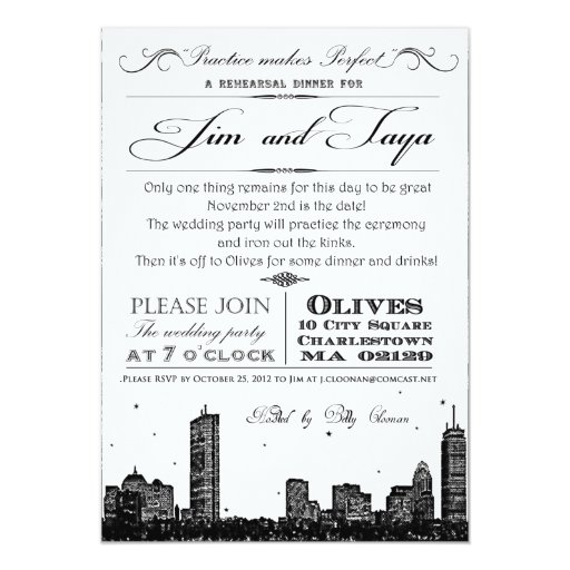 boston skyline wedding invitation zazzle