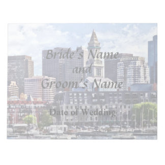 Boston Skyline With Custom House Tower Notepad