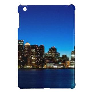 Boston skyline with moon case for the iPad mini