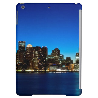 Boston skyline with moon cover for iPad air