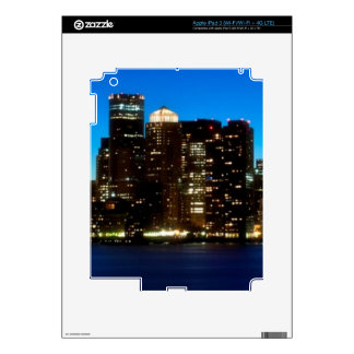 Boston skyline with moon decals for iPad 3