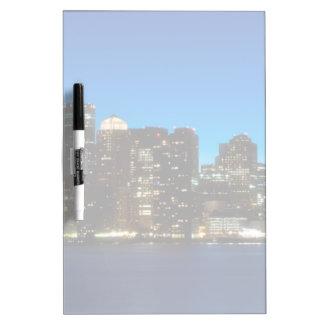 Boston skyline with moon Dry-Erase board