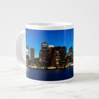 Boston skyline with moon giant coffee mug