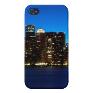 Boston skyline with moon iPhone 4 cover