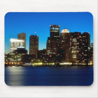 Boston skyline with moon mouse pad