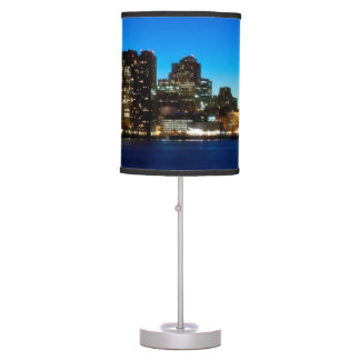 Boston skyline with moon table lamp