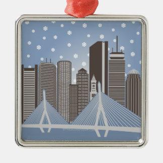 Boston Snowflakes Metal Ornament
