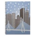 Boston Snowflakes Spiral Note Book