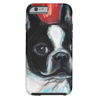 Boston sonriente Terrier Funda De iPhone 6 Tough