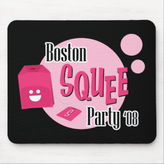 Boston Squee Party (black) Mouse Pad