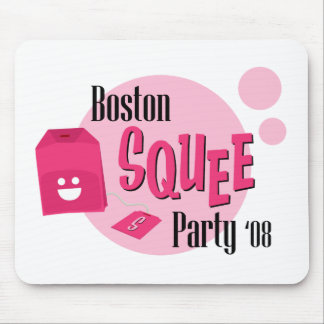 Boston Squee Party (white) Mouse Pad