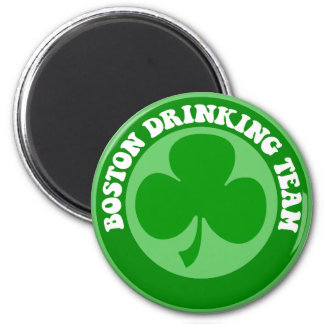 Boston St Patrick's Day 2 Inch Round Magnet