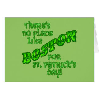 BOSTON St. Patricks Day Card