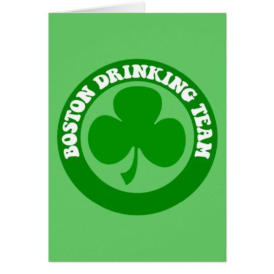 Boston St Patrick's Day Card