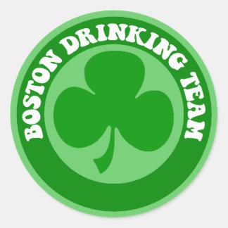 Boston St Patrick's Day Classic Round Sticker