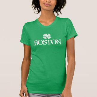 Boston St Patricks Day t shirt with shamrock logo