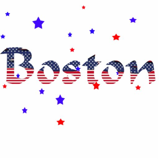 Boston Stars & Stripes Photo Sculpture Ornament
