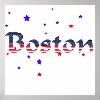 Boston Stars & Stripes Poster