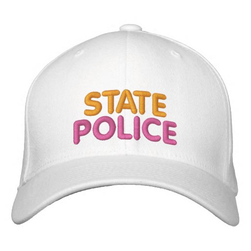 Boston State Police Embroidered Funny Hat