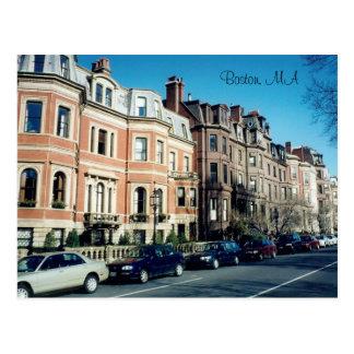boston street postcard