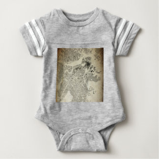 Boston Streets and Buildings Map Antic Vintage Baby Bodysuit