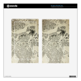 Boston Streets and Buildings Map Antic Vintage Kindle Fire Skin