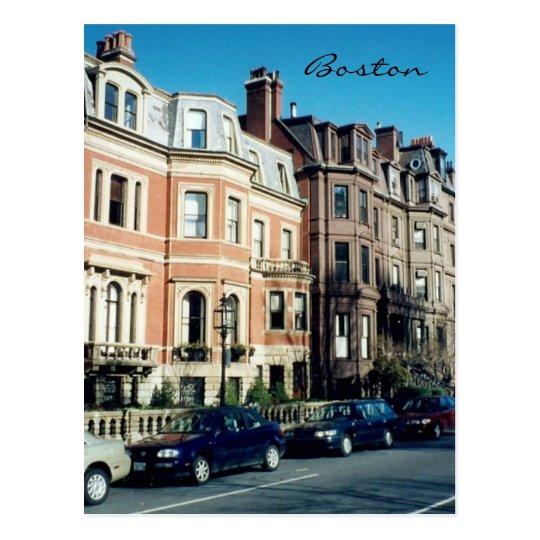 boston streets postcard