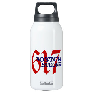 Boston Strong 10 Oz Insulated SIGG Thermos Water Bottle