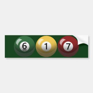 Boston Strong 617 Billiards Bumper Sticker