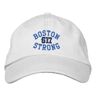 Boston Strong 617 Embroidered Baseball Caps