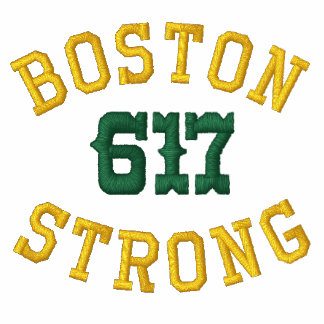 Boston Strong 617 Embroidered Shirt